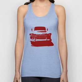 CHEVY PICKUP IN MONOCHROMATIC RED Unisex Tank Top