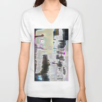 street V-neck T-shirts featuring Street by Teh Glitch