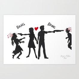 Zombie Hunting Art Print