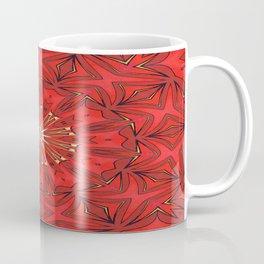 Red Bold Kaleidoscope Pattern Coffee Mug