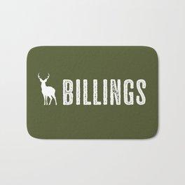 Deer: Billings, Montana Bath Mat
