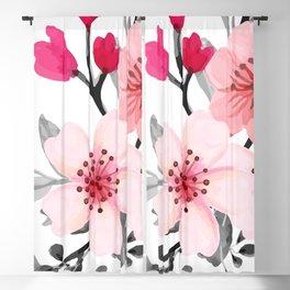 FLOWERS WATERCOLOR 11 Blackout Curtain