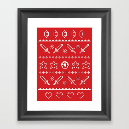 Festive Adventures in Gaming Framed Art Print