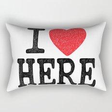 i love here Rectangular Pillow