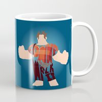 wreck it ralph Mugs featuring I'm Gonna Wreck It Typography by Rebecca McGoran