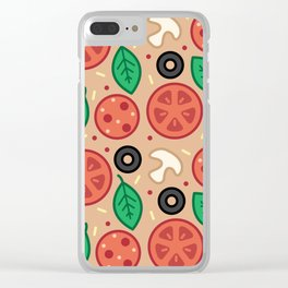 Pizza Toppings Clear iPhone Case