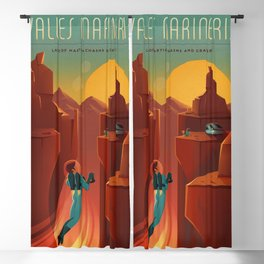 SpaceX Mars tourism poster / Valles Marineris NF Blackout Curtain