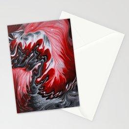 Carmine swirl Stationery Cards