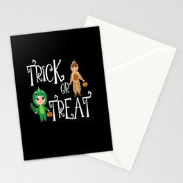 Trick or treat Kids funny Halloween Costume Stationery Cards