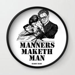 Kingsman Harry Hart: Manners Maketh Man Wall Clock