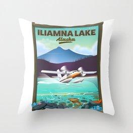 Iliamna Lake - alaska Throw Pillow