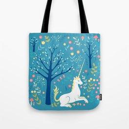Teal unicorn garden Tote Bag