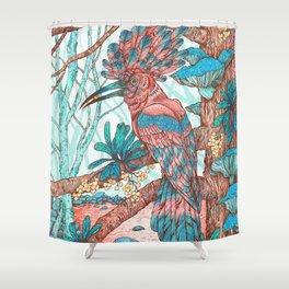 River Hoopoe Shower Curtain