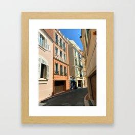 Monaco  Monte Carlo Cityscape Framed Art Print