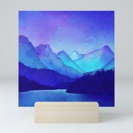 Cerulean Blue Mountains 1:1 Mini Art Print