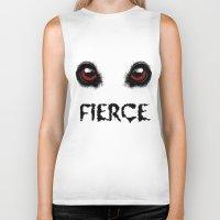 fierce Biker Tanks featuring Fierce by Nicolekay