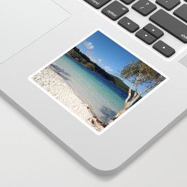 blue sea holiday Sticker