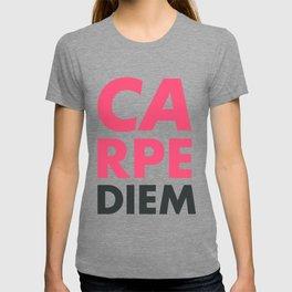 Carpe diem, seize the day, inspirational quote, motivational words, latin aphorism T-shirt