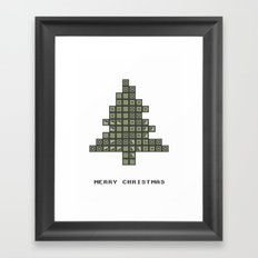 Tetrismas Tree Framed Art Print