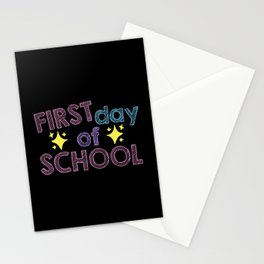 1st Day Of Primary School Enrollment child Stationery Cards