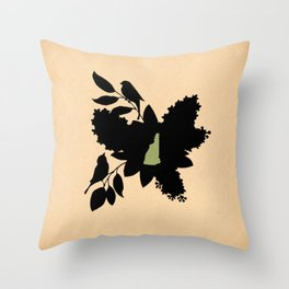 New Hampshire - State Papercut Print Throw Pillow