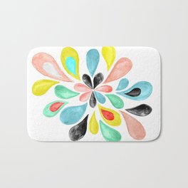 Watercolor Splash  Bath Mat