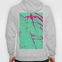Modern neon pink green watercolor splatters pattern Hoody