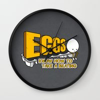 eggs Wall Clocks featuring Eggs! by Boots
