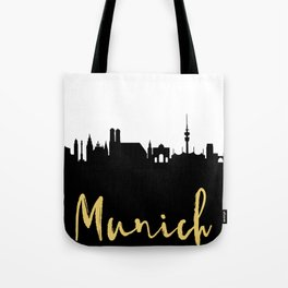 MUNICH GERMANY DESIGNER SILHOUETTE SKYLINE ART Tote Bag