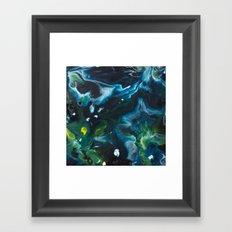 Color Commentary #9: Green & Blue [Lynne Blaisdell] Framed Art Print