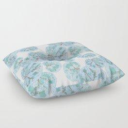 Sea Grape Tropical Leaves Floor Pillow