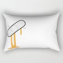 Patch Up (Orange) Rectangular Pillow
