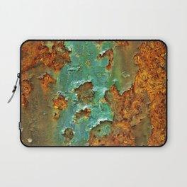 Rust and Deep Aqua Blue Abstract Laptop Sleeve