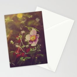Textured Anemone (Cool Colors) Stationery Cards