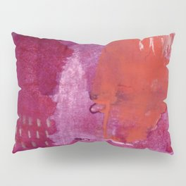 Bright and Alive: an abstract mixed-media piece in purples and reds by Alyssa Hamilton Art Pillow Sham