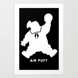 Air Puft: Stay Puft Marshmallow Man - Inverted Art Print