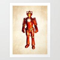 stark Art Prints featuring Cyber Stark by rubbishmonkey