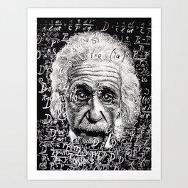 The Mind of a Genius Art Print
