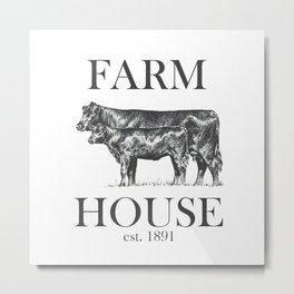 Farm House est. 1891 Metal Print