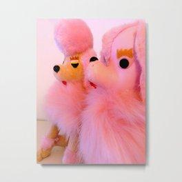 two pink poodles Metal Print