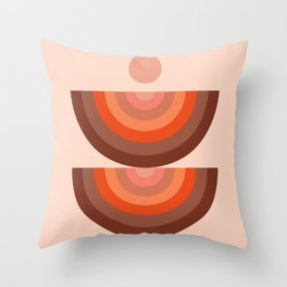 Abstraction_SUN_Rainbow_Minimalism_001 Throw Pillow