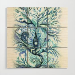 Tree of Life (blues) Wood Wall Art