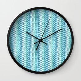 Abstract Fishing Net Loop Pattern Wall Clock
