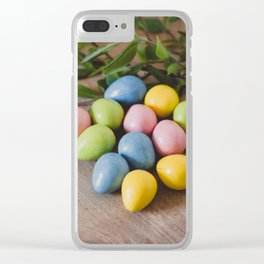 Easter Eggs 18 Clear iPhone Case