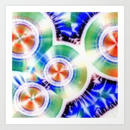 Happy Vitamin C Crystals in Sunlight Art Print