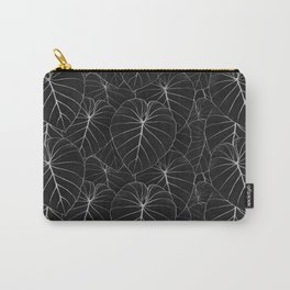 blackwork philodendron leaves Carry-All Pouch