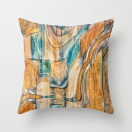 Southwest Desert Abstract Throw Pillow