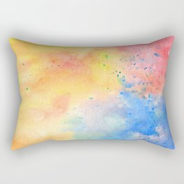 Watercolor page Rectangular Pillow