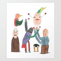 Crazy Egg. Art Print