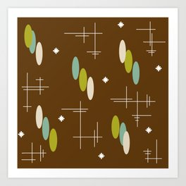 Ovals and Starbursts Colorful 4 Art Print